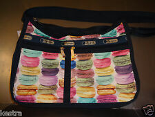 Lesportsac Deluxe Everyday Bag Crossbody Bag Purse Macaroons Macaroon New