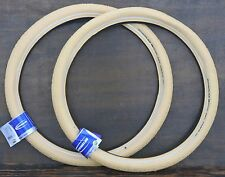 "26""x2.35 Cream White Schwalbe FF Cruiser Bicycle Tires Vintage Schwinn Tank Bike"