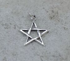 CUTE .925 STERLING SILVER WICCA PENTACLE PENDANT .925  style# p0840