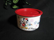 Tupperware NEW Disney Christmas Mickey Minnie Mouse Canister / Container RED