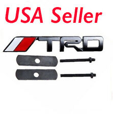 New 3D Metal Matt Black TRD Front Grille Grill Badge Emblem Fit for Toyota