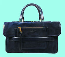 MARC Marc Jacobs MADISON Navy Blue Suede/Leather E/W Tote Bag Msrp $495.00