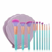 NEW Spectrum The Glam Clam Mermaid Dreams 10 Piece Vegan Brushes Set Case MInt