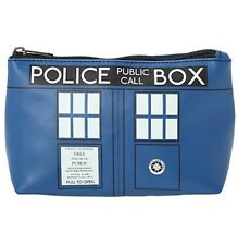 BBC Doctor Who Tardis Faux Leather Cosmetic Makeup Bag Rare Dr NWT!