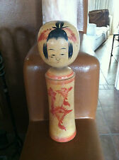 "Vintage JAPANESE KOKESHI DOLL Large 12"" high, signed, wood, By Sakurai Shoji"