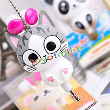 In-Ear 3.5mm Earphone Headset Cute Cheese Cat Storage For Mobile Phone PC MP3/4