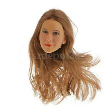 """1:6 Female Head Sculpt with Smile For 12"""" Hot Toys Phicen CG CY Girl Figure"""