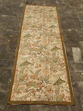 Lungo Vintage Francese BELLISSIMA STAMPA UCCELLINI scena Muro Arazzo 174x64cm (a746)