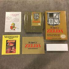 Nintendo The Legend of Zelda Gold Game Complete in Box CIB NES