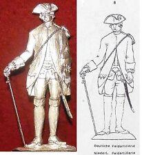 Dt.+ Niederl. Artillerist - Vorlage Albertina Handschrift (T 8) - Zinnfigur 90mm