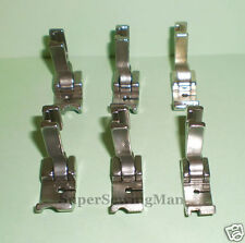 "6 PCS PIPING FEET FOOT SET 1/8"" 3/16"" 1/4"" for INDUSTRIAL SEWING MACHINE JUKI"