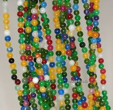 3MM PARTY MIXED JADE GEMSTONE RAINBOW ROUND 3MM LOOSE BEADS 16""