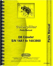 Caterpillar D8 Crawler Parts Manual (SN# 14A1-14A3860)