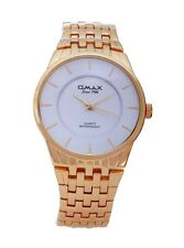 Gold Plated OMAX Brand Men's Modern Fashion Analogue Japanese Quartz Metal Watch