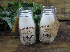 Vela De Vainilla Estilo Vintage escolar la botella de leche Vela. los agricultores del mercado.
