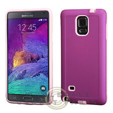 Samsung Galaxy Note 4 Advanced Armor Case-Purple/Electric Pink Cover Shell Case