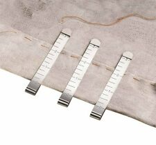 6 Ruled Hem Clips that Slide Over the Fabric While Sewing and Stitching. Helps H