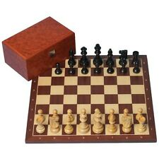 Classic Combination Chess Set: Classic Pieces (Black), Regular 2 Board & Box