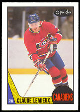 1987 88 OPC O PEE CHEE HOCKEY #227 CLAUDE LEMIEUX NM ROOKIE MONTREAL CANADIEN RC