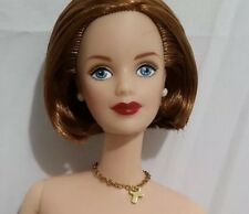 NUDE Barbie Doll Xfiles Agent Dana Scully OOAK Or Repaint Mackie Short Red Hair