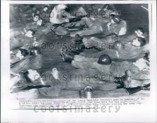 1955 Members of 184th National Guard in Flood Stricken Yuba City CA Press Photo