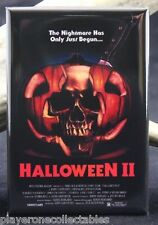 "Halloween 2 Movie Poster 2"" X 3"" Fridge / Locker Magnet. Classic Horror!"