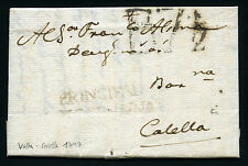 ESPAÑA CARTA VALLS A CALELLA 1797