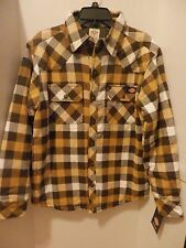 DICKIES MEN'S LINED TWILL PLAID SHIRT JACKET - SIZE SMALL - NWT
