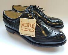 Goodyear Welted 9 Men's Hand Made Golf Shoes Black Calfskin Leather Vintage VTG