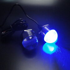 2PCS Blue Stainless Steel LED Drain Plug Light For Boat Marine Underwater