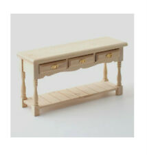 Dolls House Furniture:  Natural Wood Sideboard : 12th scale miniature Side Table