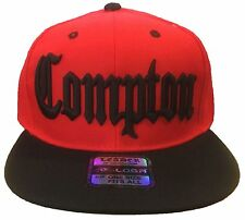 NEW COMPTON BOMPTON 3D EMBROIDERED FLAT BILL SNAPBACK BASEBALL HAT CAP