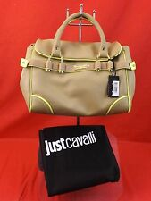 "NWT JUST CAVALLI BEIGE SAFARI THEME ""BORSA POCHETTE""  SHOULDER BAG $258"