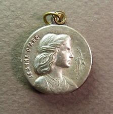 French Antique WWI Joan of Arc Silver Plated  Picture Holder Locket Pendant