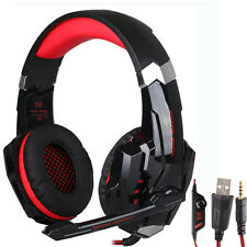 Black&Red Gaming MIC LED Light Headset Headphone For 3.5mm jack PS4/Xbox One