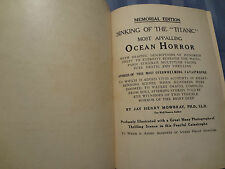 1912 Sinking of the Titanic Memorial Maple Leaf Disaster Survivors Antique Book