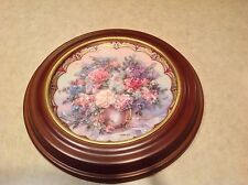 "Flower Fairies Angels 8"" Plate WL George by Lena Liu 1993 - Inc Wooden Frame"