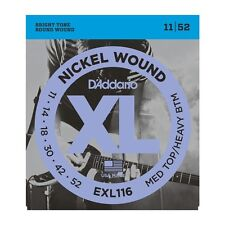 D'addario EXL116 Nickel Wound Electric Strings 11-52, Medium Top/Heavy Bottom