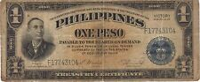 1944 1 SILVER PESO PHILIPPINES CURRENCY VICTORY BANKNOTE NOTE BANK BILL CASH WW2