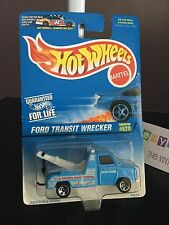 NOS MOC Hot Wheels Die Cast 1996 Ford Transit Wrecker Kevin's 24hr Towing #620F