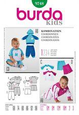 Free UK P&P - Burda Toddlers Easy Sewing Pattern 9748 Top, Hoodie, Pants ...