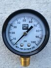 100 lb Pressure gauge , for water well submersible or jet pumps