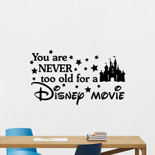 Disney Quotes Wall Decal Movie Poster Vinyl Sticker Home Cinema Decor Art 82quo