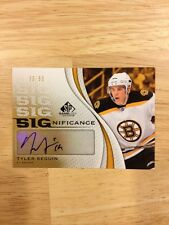 2010-11 SP GAME USED SIGNIFICANCE AUTO TYLER SEGUIN 30/50 RC #SIG-TS MINT!