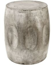 Waxed Concrete Modern Organic Industrial Rustic Accent Table Stool