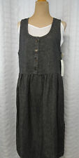 VTG 80s Gray-Black Modest Maternity Dress Cotton Jumper Lady in Waiting NEW USA