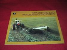 John Deere Hay Cutting & Windrowing Equipment Brochure A-12-85-10