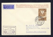 50894) LH FF Frankfurt - San Francisco 13.5.60, Brief ab Österreich Schiffspost