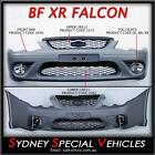 BF FALCON XR6 XR8 FRONT BUMPER BAR WITH GRILLES FOG LIGHTS SEDAN UTE XR ALL NEW
