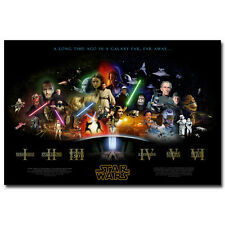 Star Wars Classic Movie Episode 1- 6 Art Silk Poster Pictures 13x20 inch